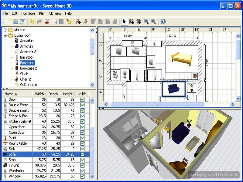 Origo szoftverb zis for Software decoracion interiores 3d gratis